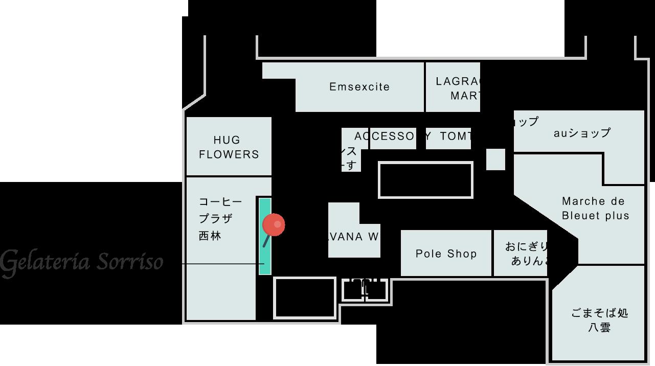 4丁目プラザ フロアマップ